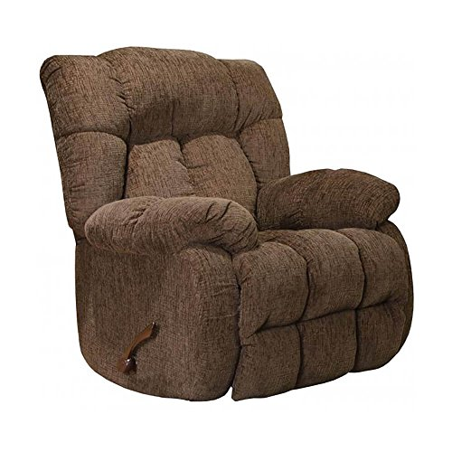 Catnapper Brock Rocker Recliner in Chocolate Brown Polyester Chenile Fabric