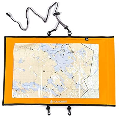 Aqua Quest Trail Map Case - 100% Waterproof Document Dry Bag Holder with Clear Window & Lanyard from Aqua Quest