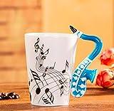 DOROCH 400ml Musica Musica Musica Creative Violin Style Guitar Guitar Tazza in Ceramica Tazza da caffè caffè Latte Stave Tazze con Manico Tazze da caffè novità Regali novità