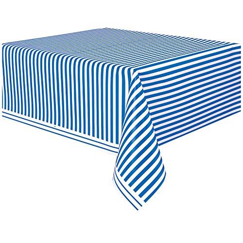 rayé Bleu royal Plastique Housse de table Chiffon facile à nettoyer Nappe de fête couvertures chiffons Pois Nappe