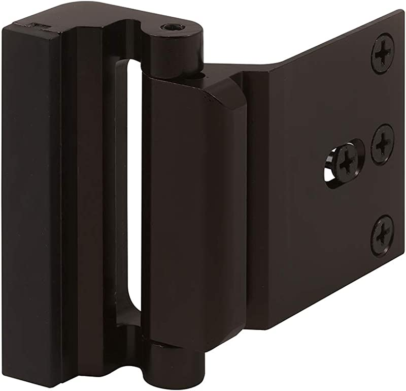 Defender Security U 11126 Door Reinforcement Lock Add Extra High Security To Your Home And Prevent Unauthorized Entry 3 Stop Aluminum Construction Bronze Anodized Finish