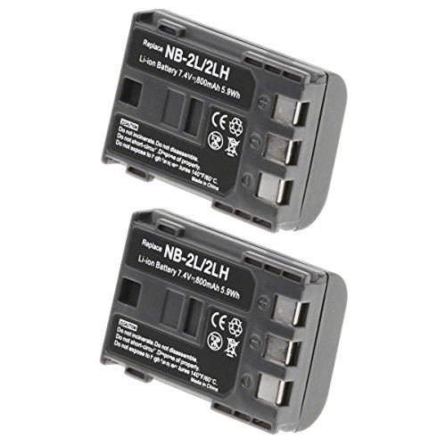 2Unidades de Canon CB-2LT–Batería Canon NB-2LH Batería para Canon Cámara y Cámara de Vídeo–Olympia Recargable Marca