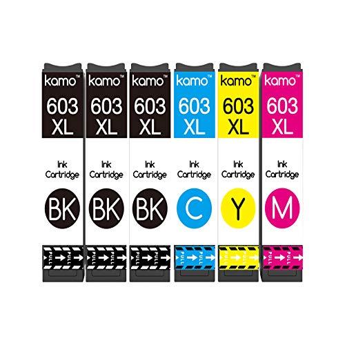 Kamo 603XL Cartucce Multipack Compatibile con Epson 603 o Epson 603XL Cartuccia d'inchiostro, Expression Home XP-2100 XP-3100 XP-2105 XP-3105 XP-4100 XP-4105, Workforce WF-2810 WF-2830 WF-2835 WF-2850