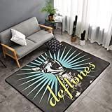 SWEET TANG Fashion Deftones Cat Carpet Abstract Area Rug Contemporary Style, Superior Comfort Rugs for Bedroom Living Room Dorm