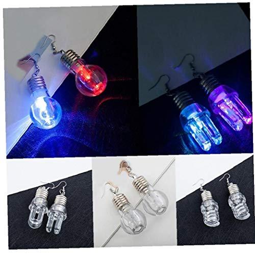 Case Cover 1pair Art und Weise Ohrring-Glühlampe Licht führt Make Up Ohrringe Hot Dance Party Zubehör Supplies Frauen (zufällige Farbe)