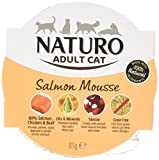 Naturo Wet Cat Food Adult Salmon Mousse 85g (Pack of 8)