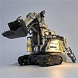 SMILOH Juego de lámparas LED compatible con Lego, dispositivo de iluminación compatible con Liebherr R9800 excavadora bloques de construcción juguetes (excepto modelo Lego)