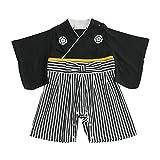 Aenak 袴ロンパース 黒 70cm