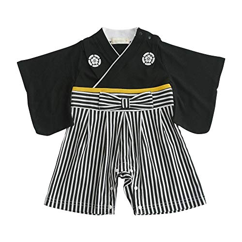 Aenak 袴ロンパース 黒 80cm