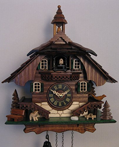 Engstler Quartz Cuckoo Clock Black Forest House EN 444 Q