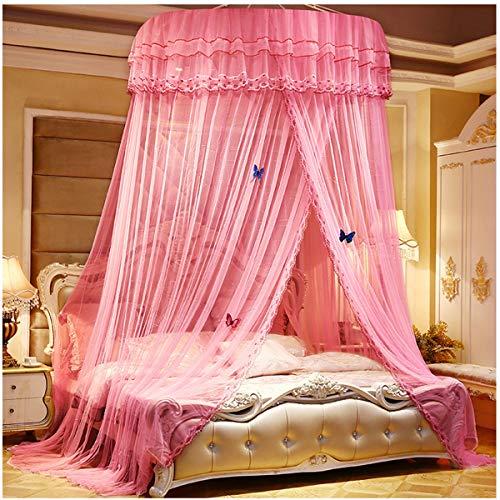YANGM Mosquito Net Dome Elegante Netting Gordijnen Insect Afstotend Tent Bed Gordijn Luifel Muggennet Fit Eenpersoons/Tweepersoons/Kingsize Bed voor Vakantie Reizen (1,2 * 2,8 * 11,5 M)