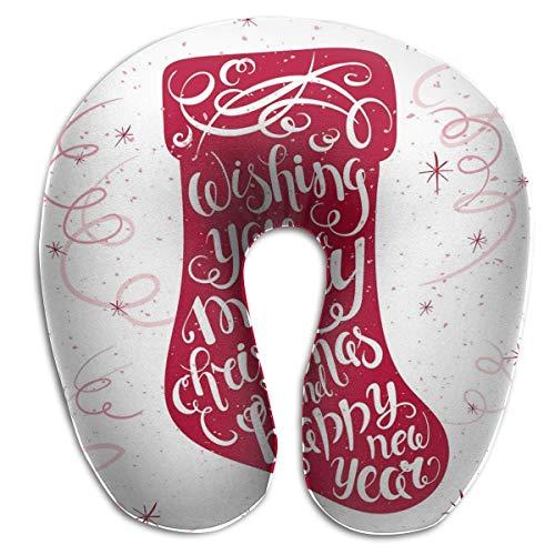 Almohada para el Cuello Letras navideñas Inspiradoras Almoh