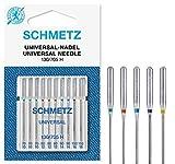 Schmetz, aghi per macchina da cucire, set da 10 pezzi, assortiti, argento, NM 70/10 - NM 110/18