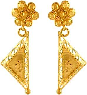 P. C. Chandra Jewellers 22KT Yellow Gold Jhumki Earrings for Women