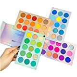Beauty Glazed Highly Pigmented Eyeshadow Palette, Profession 60 Colors Makeup Palette Mattes Shimmers Naked Smokey Glitter Cream Colorful Powder Blendable Long Lasting Waterproof Eye Shadow Palette