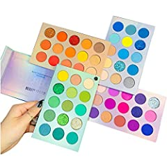 【60 Shades with Vibrant Colors】 Beauty Glazed eye shadow palette filled with 60 intensely-pigmented eyeshadow shades, the creamy eyeshadows of velvety texture glide onto lids and deliver an ultimate color payoff. These 60 deeply pigmented shades are ...