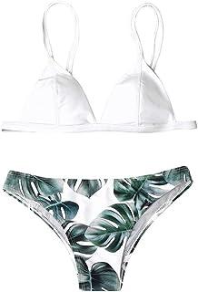 riou Bikini, Bikini Mujer Push Up Riou Conjuntos de Bikinis Push Up Mujeres Traje de BañO Estampado Bohemio Dividido BañAdores 2019 Dos Piezas BañO BañAdor Ropa de Playa vikinis
