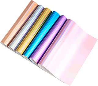 Shiny Colored Leather Fabric Sheets Cotton Back for Earrings, Bows, Jewelry, Hair Bow DIY Craft Projects, Plain 10-inch by 13-inch,6 Colors