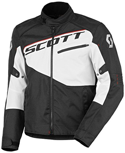 Scott Sport 2 DP Motorrad Jacke schwarz/weiß 2016: Größe: XXL (54/56)
