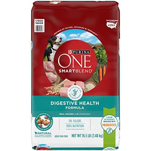 Purina ONE Probiotics, Natural Dry Dog Food, SmartBlend Digestive Health Formula - 16.5 lb. Bag