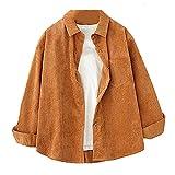Blusas de mujer para mujer, blusas para mujer, ropa de manga larga, botones, Rojo Coral, XL