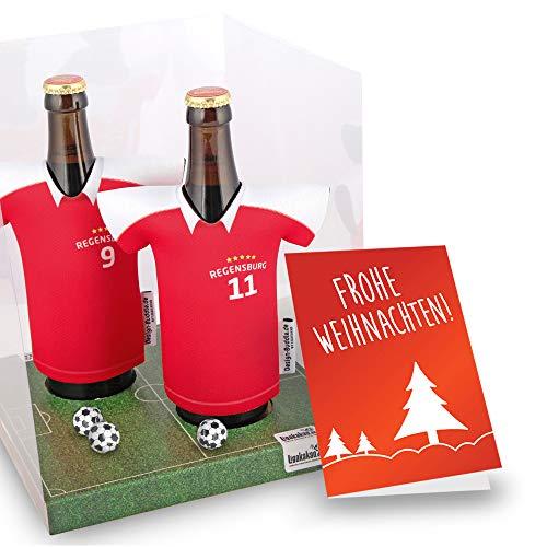 Weihnachts-Geschenk | Der Trikotkühler | Das Männergeschenk für Regensburg-Fans | Langlebige Geschenkidee Ehe-Mann Freund Vater Geburtstag | Bier-Flaschenkühler by Ligakakao