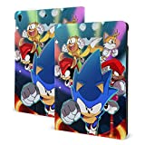 Sonic & Friends Mania Adventures Fan Art iPad Pro 10.5 Case, Smart Cover Protective Case for iPad Air 3 Case 2019 Ultra Light Slim Fit Tablet Cases with Soft TPU Back Case
