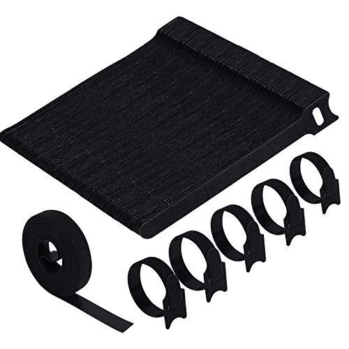 VoJoPi Bridas Reutilizables, 100 Piezas Sujeta Cables, Ajustable Ataduras Cables con Nylon...