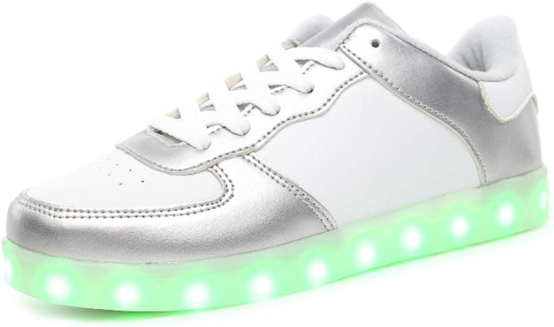 Ghost Dance shoes USB Charging LED Light shoes Men's Ladies Casual shoes (color   E, Size   39EU)