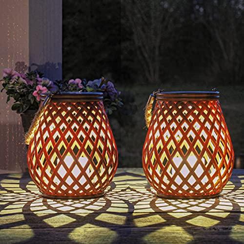 Gadgy Faroles Jardin Exterior | Juego De 2 | Luz Solar Exterior Decorativa | Linterna Led Con Sensor Día/noche | Farolillos solares para Jardin