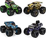 Monster Jam, Official Reveal The Steel 4-Pack of Color-Changing Die-Cast Monster Trucks, 1:64 Scale (6058463)