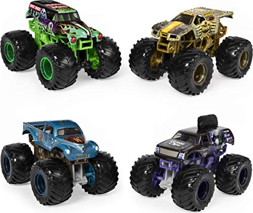 Monster Jam, Official Reveal The Steel 4-Pack of Color-Changing Die-Cast...