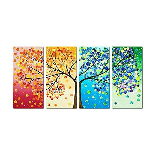 diamond painting albero della vita UEB Albero Colorato 5D DIY Full Drill Diamond Painting Craft 4-Immagini Combinazione Pittura del Diamante Decorazione d'Arte Regalo 80 * 40cm