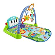 Piano Gym allows your baby to kick up some fun while learning Features a portable piano and 5 activity toys (a hippo teether, elephant clackers, a rollerball frog, a crinkly tiger and a large mirror) that stimulate baby's senses and enhances their gr...
