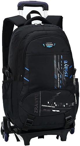 LGBEIBAOX Studenten Polyester Oxford Tuch DREI Runden Trolley Tasche Doppelter Schulter Rucksack Handzug Box