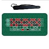 Tapete de mesa de juego Poker de mesa portátil de 1,2 m Juego Tabla Mat Tabla de goma techo de lona póker del casino de juego de mesa Texas Hold'em Sic Bo Blackjack Ruleta de juego del juego del cojín