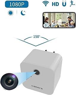 Futursd Mini Cargador de Pared USB de Nanny CAM con visualización remota HD 1080P detección de Movimiento Las Mejores cámaras de Escritorio indetectables para Interiores (Color : Blanco)