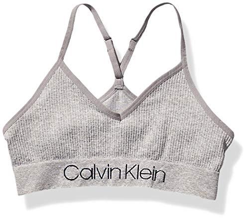 Calvin Klein Damen Seamless Wirefree Comfort Bralette Bra Unterhemd, Grau mit Logo, Klein