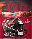 Tampa Bay Buccaneers Super Bowl LV Silk Touch 50' x 60' Throw Blanket…