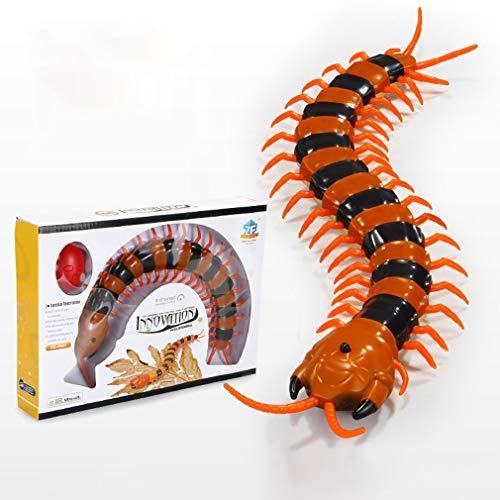 Linbing666 Fernbedienung Hundertfüßer Spielzeug Kinder Parodie Insektenspielzeug - mit LED-Lichtern Infrarot rc Tricky Spielzeug Modell gerissen Spielzeug,A