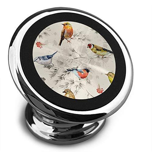 Amoyuan magnetische telefoon houder kleine vogels aquarel auto telefoon houders voor auto met een super sterke magneet