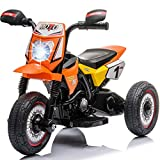 Little Brown Box Kids Dirt Bike 6V Ride On Motorcyle Vehicle Toy - Electric Three Wheels Quad -...