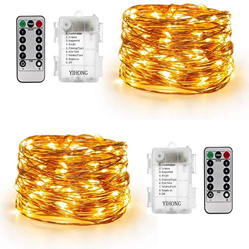YIHONG led String Lights, Copper, Warm White
