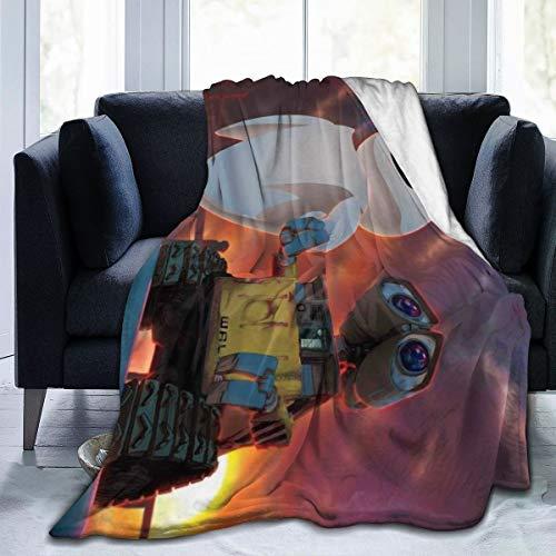 "Wall-E Ultra-Soft Micro Fleece Throw Blanket 3D Printed Lightweight Cozy Bed Sofa Blanket 60"""" x50"