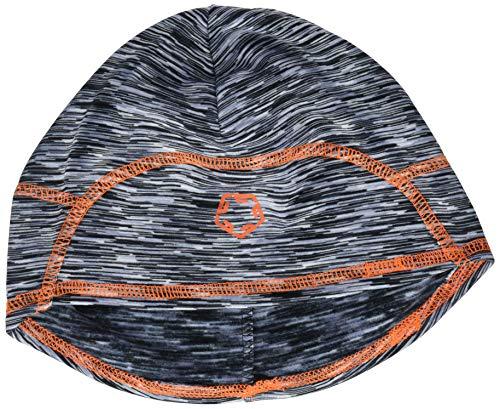 Gregster Damen und Herren Mütze Unisex Sportmütze zum Laufen atmungsaktiv Beanie Funktionsmütze, grey melange/orange, Einheitsgrösse