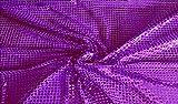 Fabrics-City HOCHWERTIG PAILETTEN STOFF PAILLETTENSTOFF 6MM