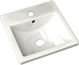 American Standard 642001.020 Studio Ceramic undermount Square Bathroom sink, 16.25