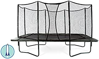 JumpSport AlleyOOP PowerBounce 10'x17' Trampoline with Enclosure | 2 Layers of High Performance Black Springs | 50+ Patent & Safety Innovations | Lifetime Frame Warranty