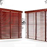 WENZHE Holzjalousie Jalousien Fenster Sichtschutz Holz Jalousette Rollos Schlafzimmer Balkon Sonnencreme Schattierung - Klinge 3,5cm / 5cm - Größe Anpassbar (Color : 35mm, Size : 60x160cm)
