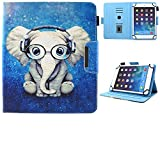 9.5-10.5 inch Tablet Universal Case, JZCreater Synthetic Leather Case Cover for Apple iPad Air,New iPad 5th/6th Gen, Samsung Galaxy Tab A 10.1/Tab E 9.6 and More 9.5-10.5inch Tablet, Elephant